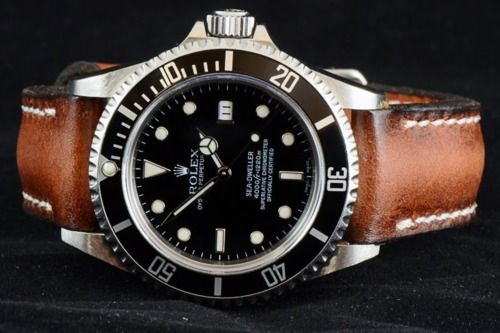 Like Rolex with leather