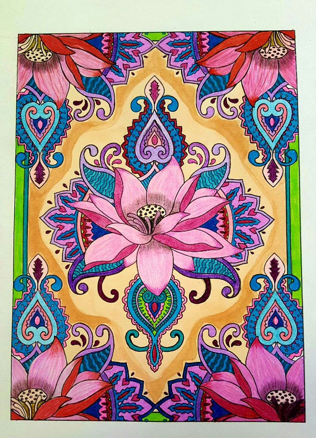 From Creative Haven Mehndi Designs Collection Coloring Book By
