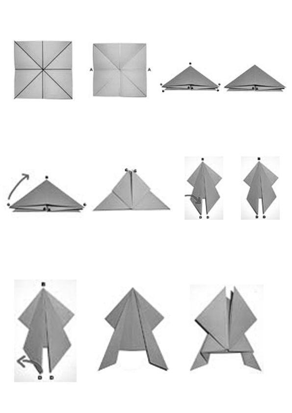 tuto grenouille sauteuse origami diagram pinterest. Black Bedroom Furniture Sets. Home Design Ideas