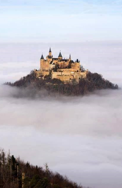 Hohenzollern Castle Floating Above The Clouds Germany From Iryna Hohenzollern Castle Germany Castles Castle In The Sky