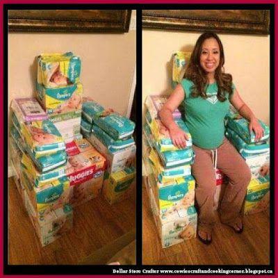 Dollar Store Crafter: Make A Baby Shower U0027Game Of Diaper Thronesu0027 Chair.