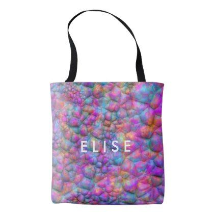 Rainbow Rocky Riverbed Abstract Tote Bag - pattern sample design - rainbow template