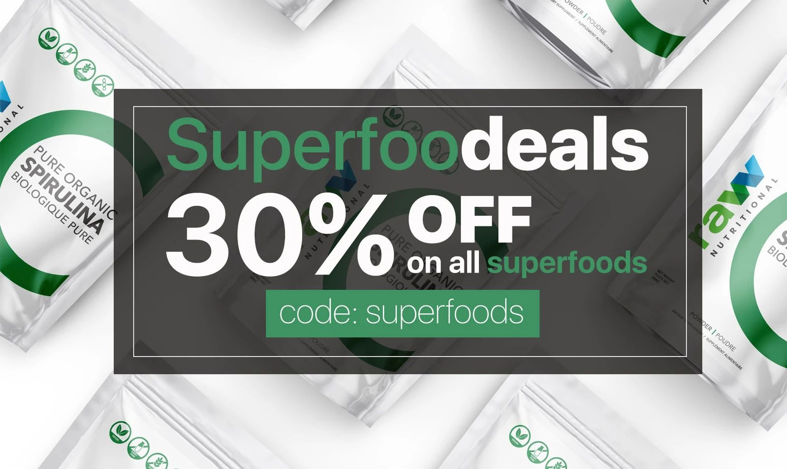 Superfood Deals 30 Off On All Superfoods Powder In 2020 Superfoods Vegan Protein Superfood Powder