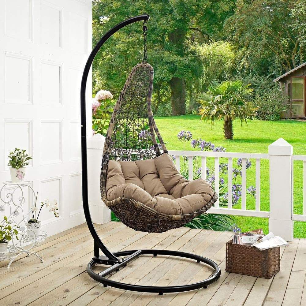 Modway Abate Outdoor Patio Swing Chair With Stand In 2020
