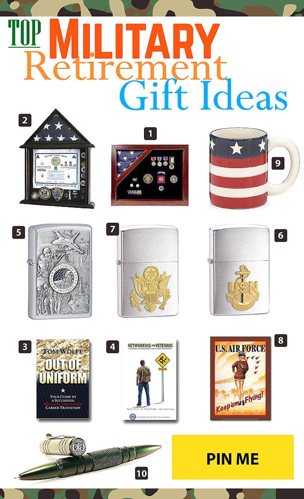 Top Military Retirement Gift Ideas Military Retirement Gift Retirement Gifts Military Retirement