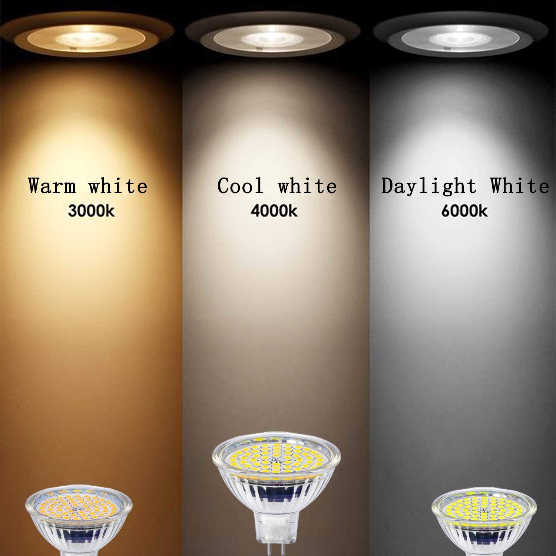 Yafido Mr16 Gu5 3 Led Ampoule Blanc Chaud Douille 12v 5w Equivalent A 35w Halogene Lampe Gu 5 3 Gu5 Spot 2800k 400 Lumen 120 Faisceaux Non Dim 4000k 3000k Lamp