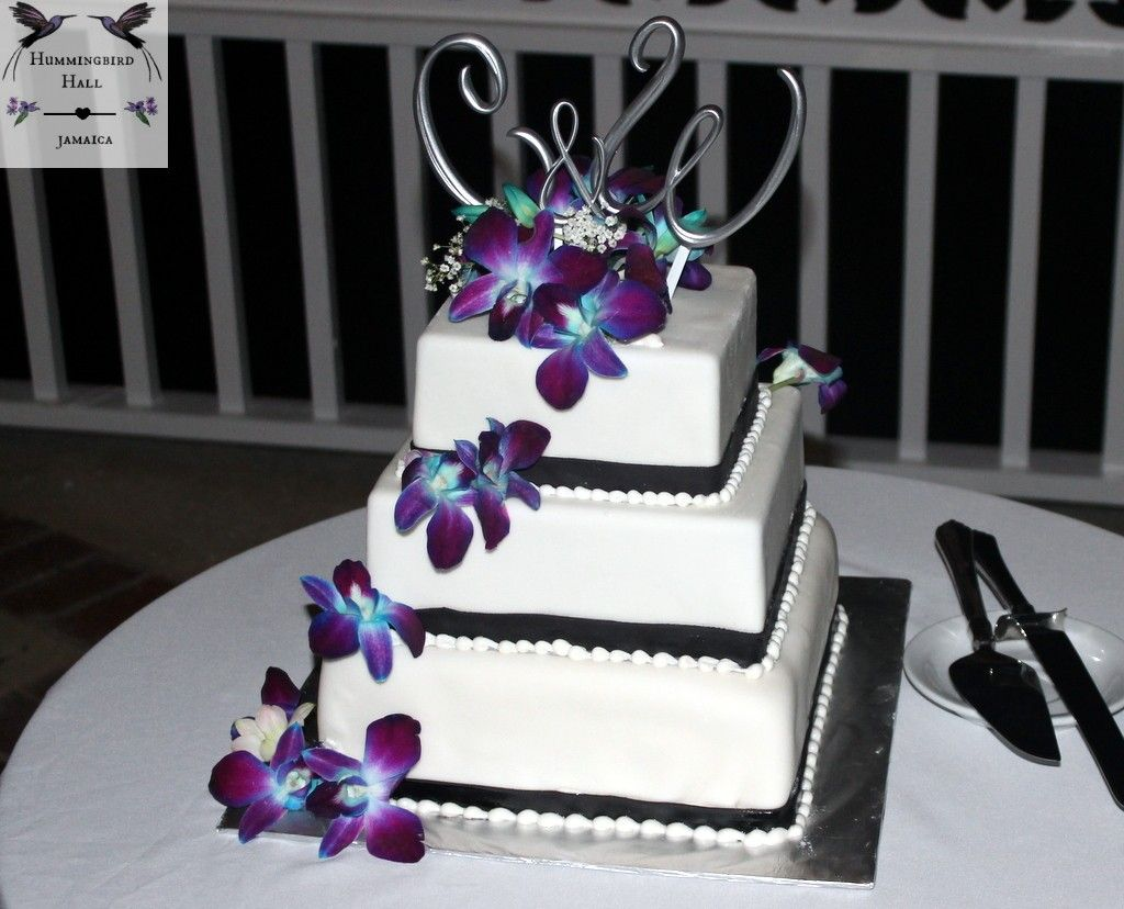 Hint Of Blue Gothic Wedding Cake Detail Jamaica Destination Weddings In Rose Hall Montego Bay Gothic Wedding Cake Wedding Cake Options Orchid Wedding Cake