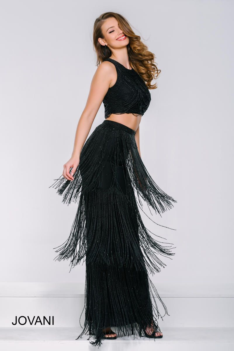 dcc9801b2af6 Jovani 37705 Fringe 2 Piece Prom Dress in 2019 | Two Piece Prom ...