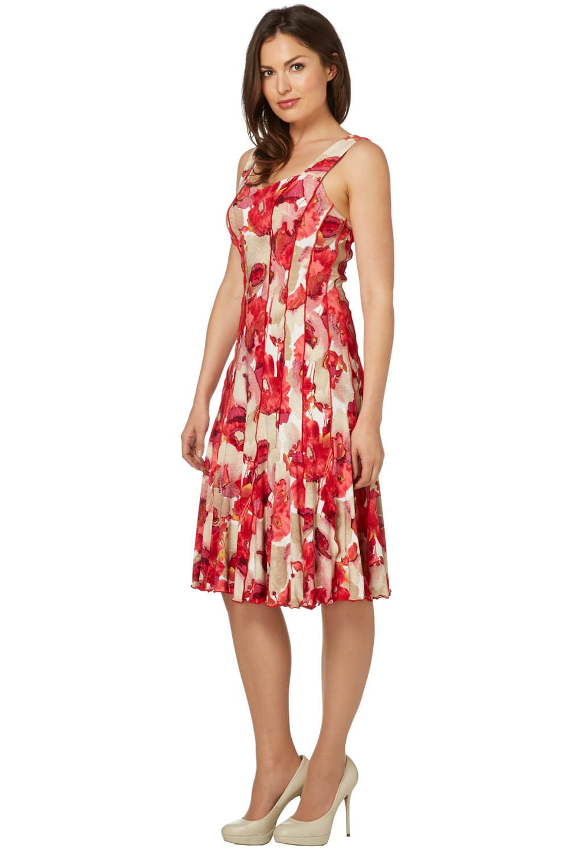 Roman Originals Women Floral Printed Panel Dress