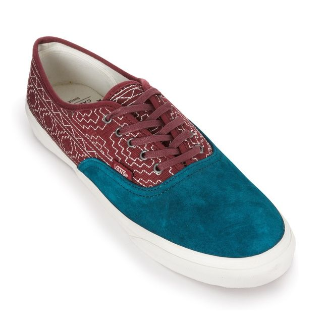 4b63b66d2e Vans Vans Authentic Slim CA (Native Embroidery) (BURGUNDY)