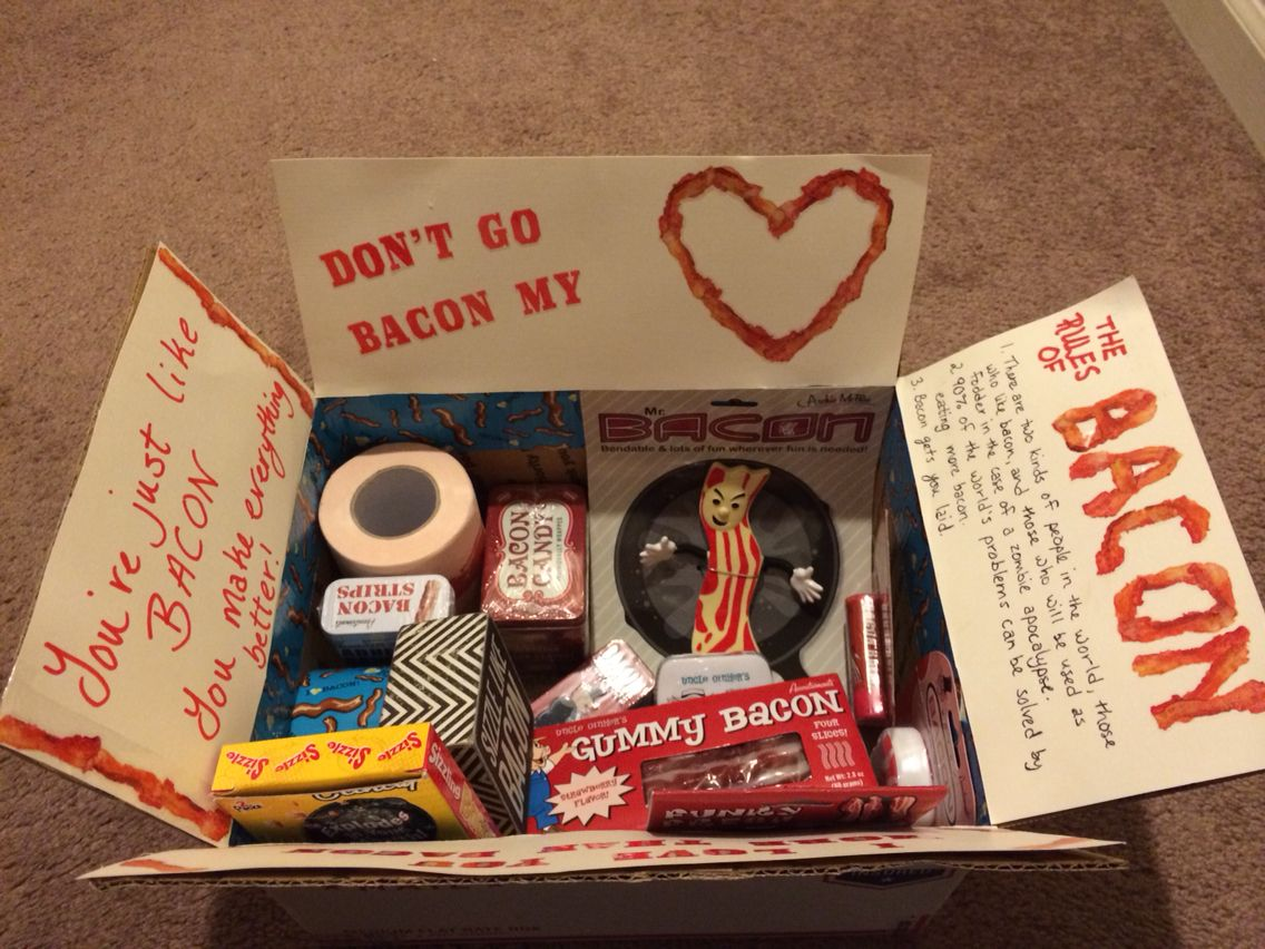 All about bacon care package. What college kid wouldn't