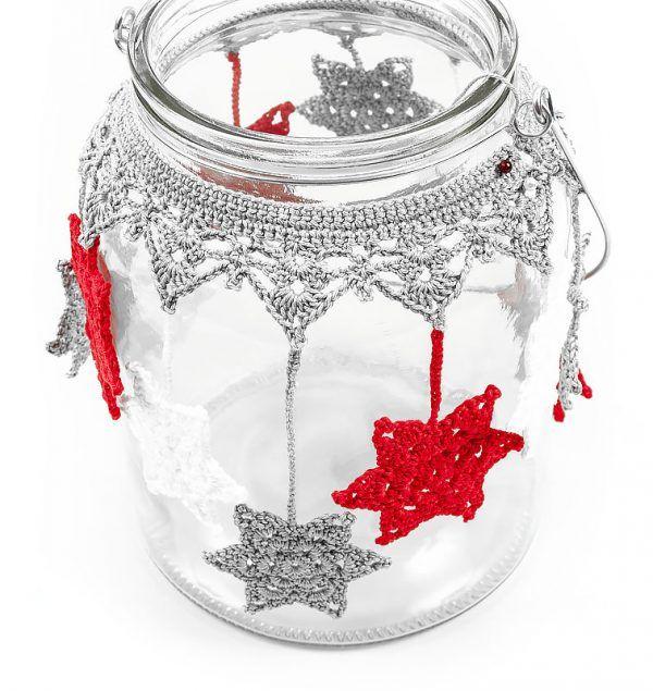 Photo of Crochet lantern with stars
