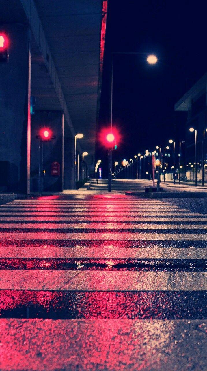 Street In The Night Picsart Background Hd Wallpaper Wallpaper