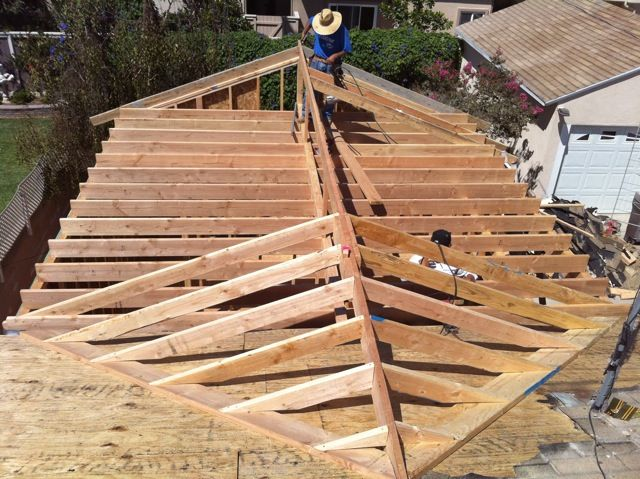 Roof framing new roof construction diy crafts that i for Roof addition