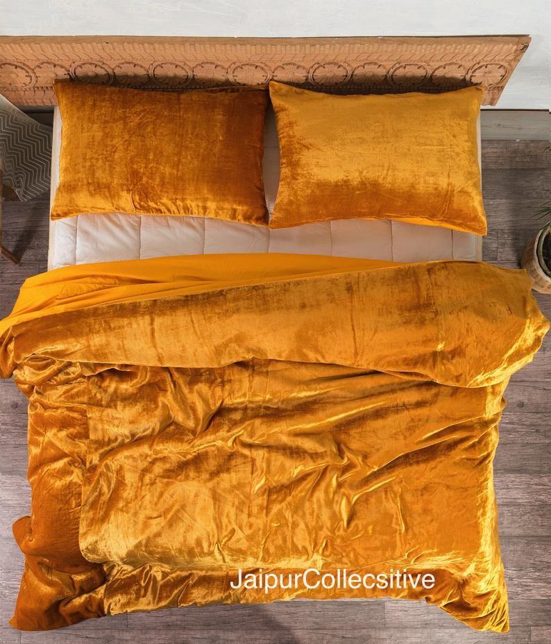 Ultra Luxe Crushed Velvet Duvet Cover Boho Bedding Uo Etsy In 2021 Velvet Duvet Velvet Bedding Sets Duvet Covers