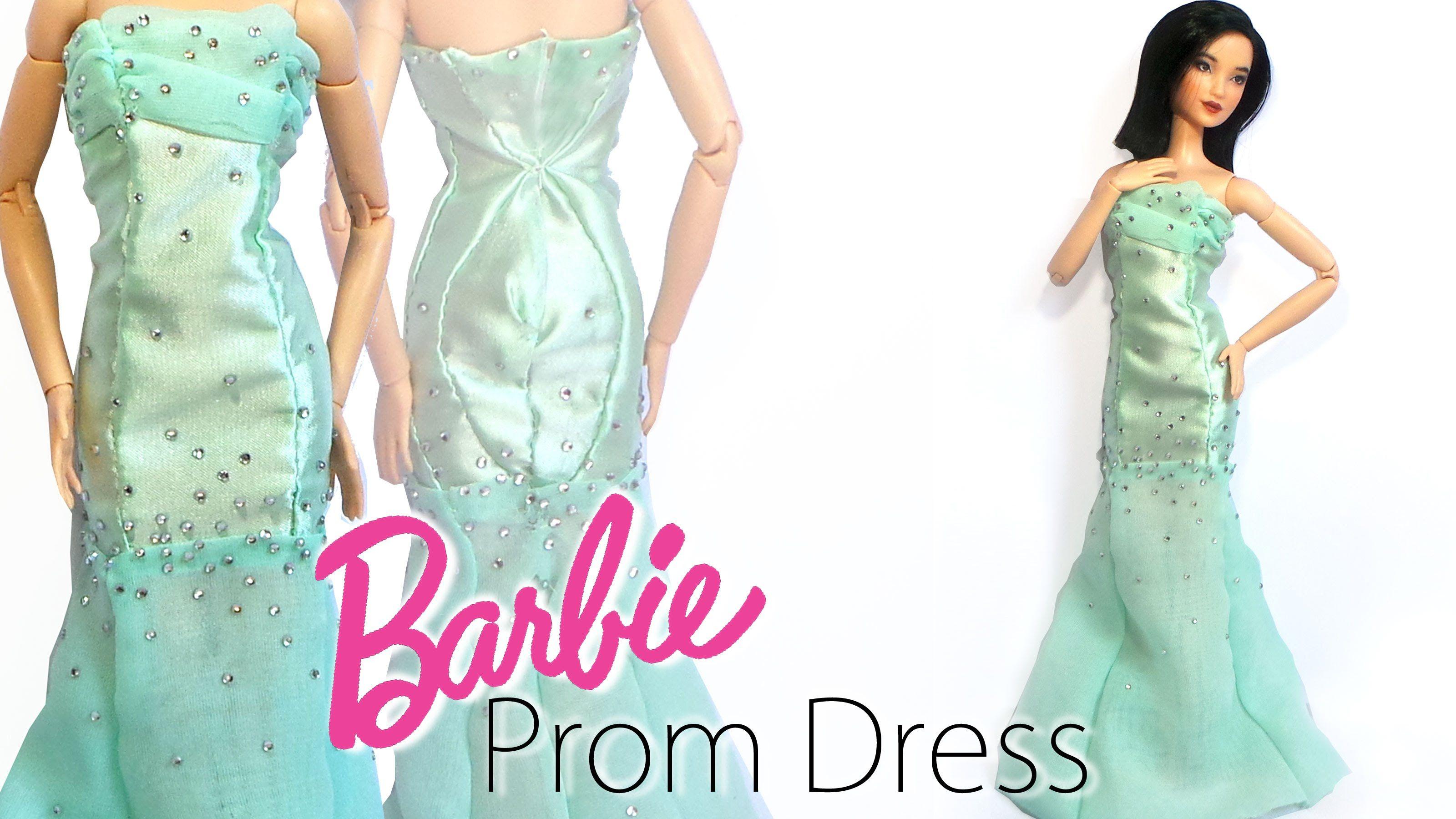 How to: Doll Prom Dress - Miniature/Barbie Prom Dress Tutorial ...