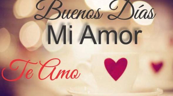 Buenos Dias Mi Amor Imagenes Con Frases Para Whatsapp Png 589 326
