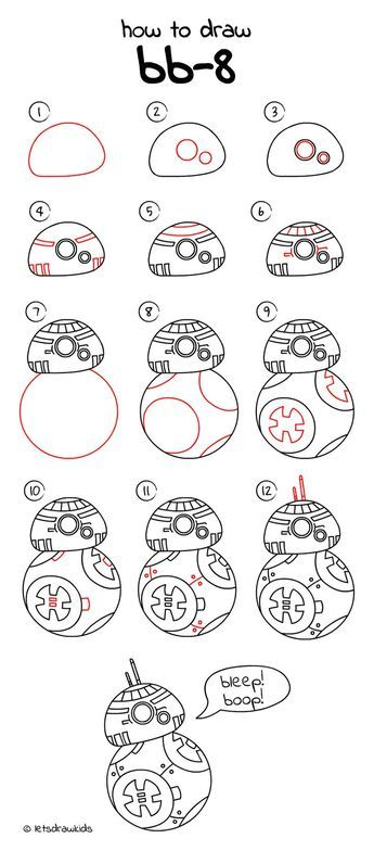 How To Draw BB 8 From STAR WARS Easy Drawing Step By