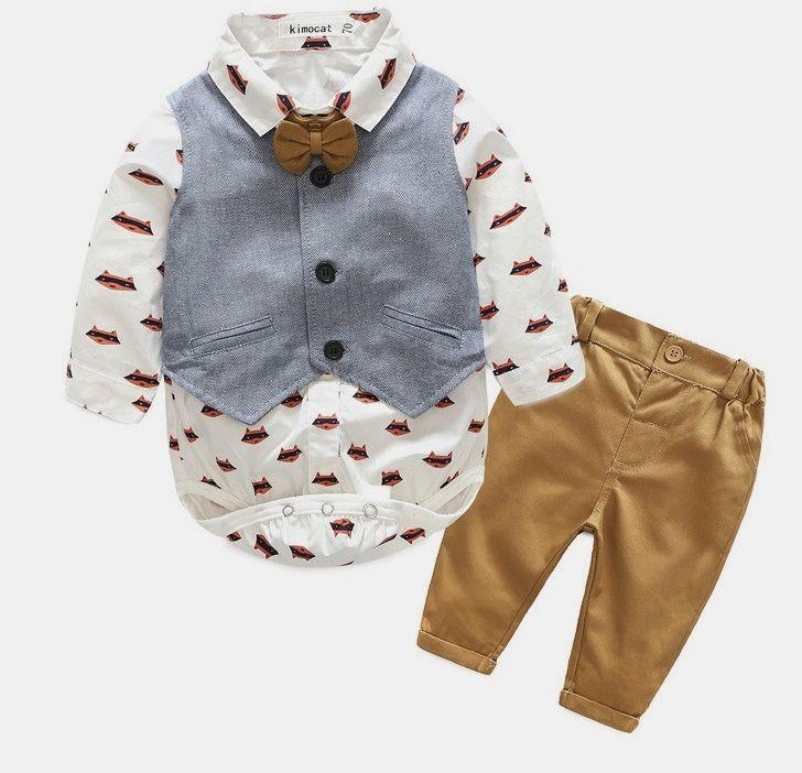 f914c4e0dfd Elegant Baby Boy Clothes Set Cartoon Baby Boy Clothing Set