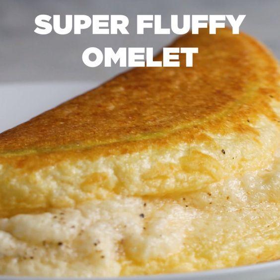 Super Fluffy Omelet Recipe by Tasty