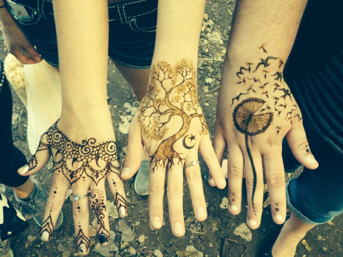 Mehndi Lace Tattoo : Henna cute pretty unique friends tree dandelion birds lace