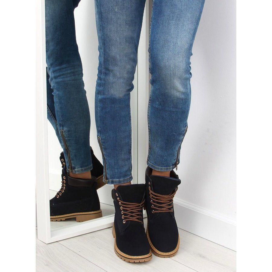Timberki Damskie Ocieplane Granatowe Boots Sorel Winter Boot Bean Boots