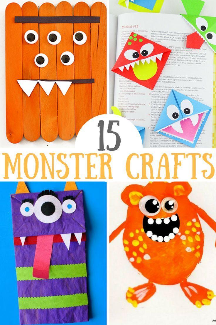 15 Cute Monster Crafts For Kids Arts Crafts For Kids Crafts