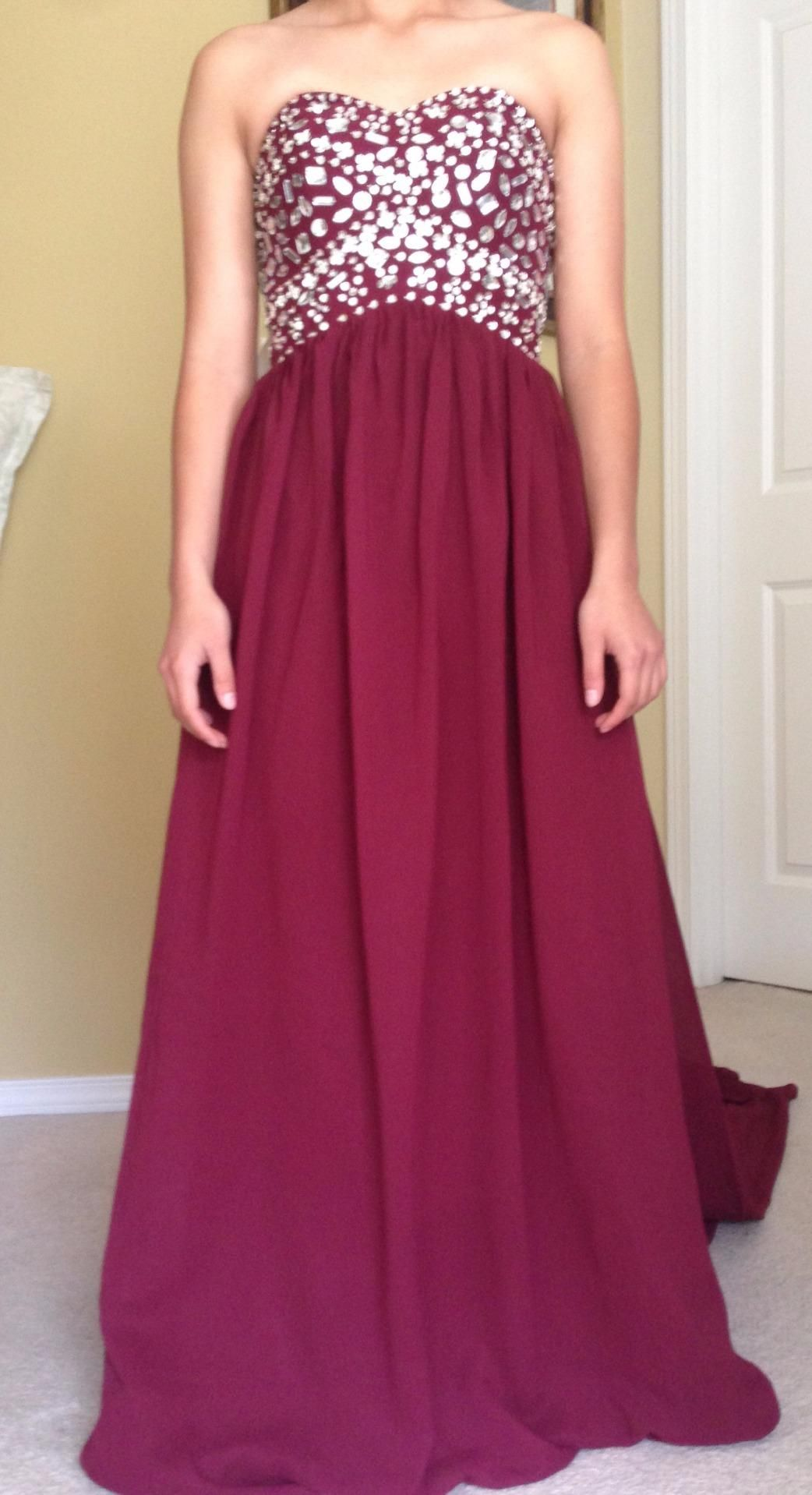 Gorgeous aline sweetheart sweep train empire bridesmaidprom dress