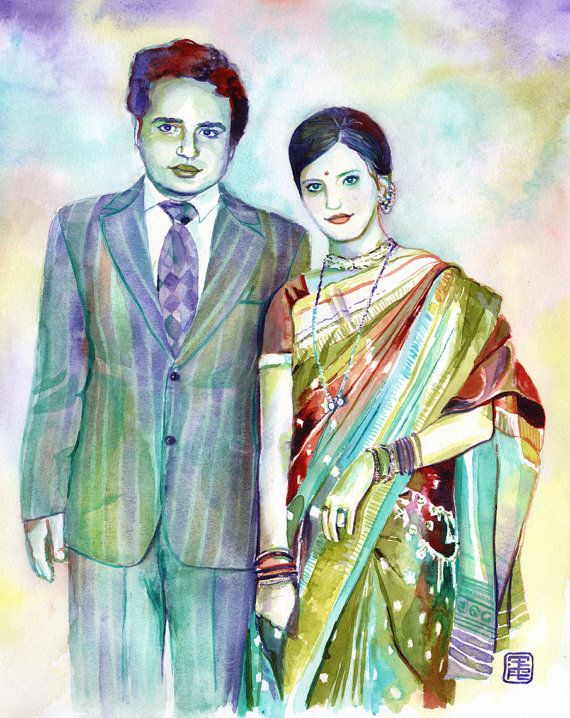 SPECIAL HINDU wedding 25th or 50th ANNIVERSARY gift by