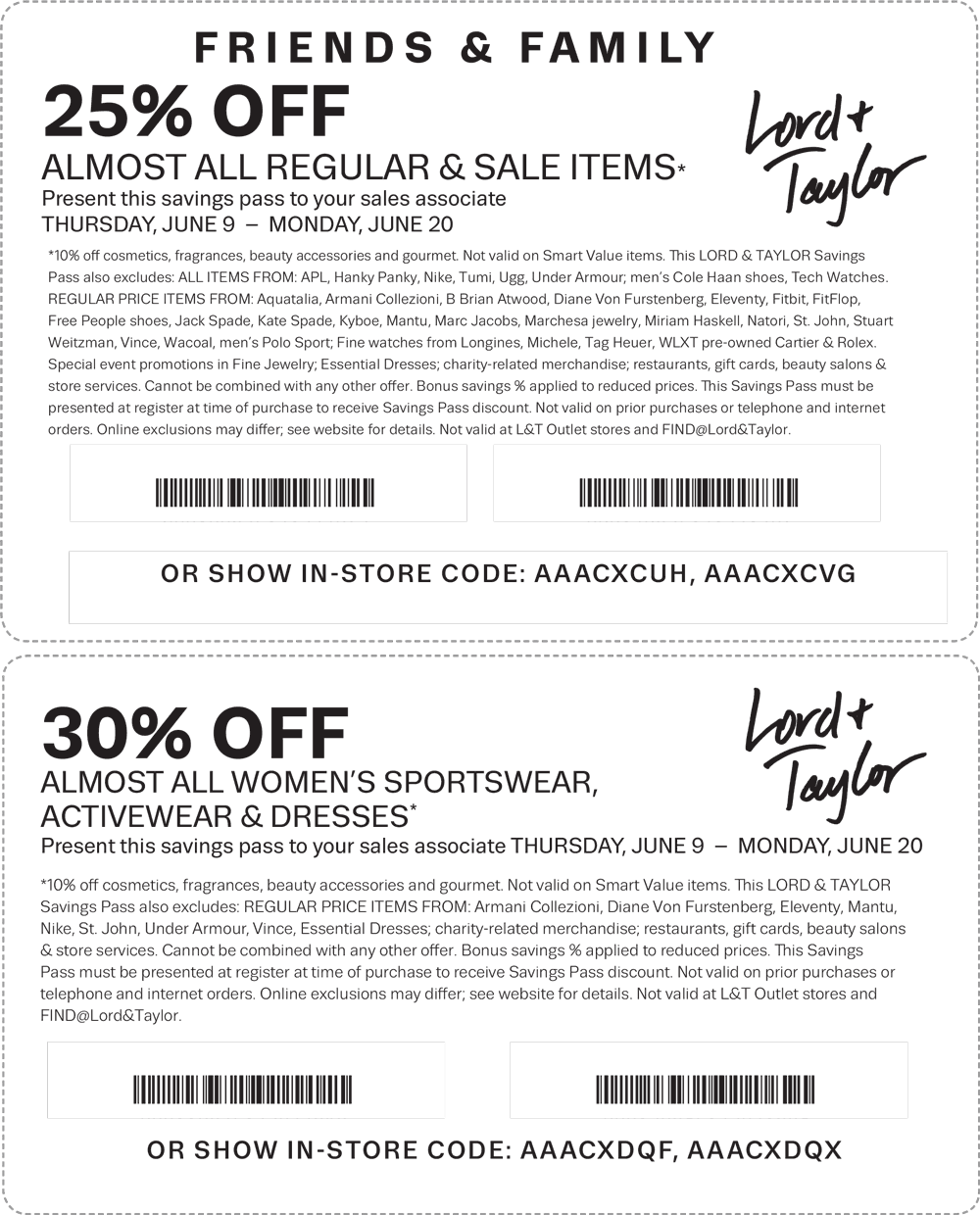 Pinned June 13th: 25% off & more at #LordTaylor or online via promo code FRIENDS #TheCouponsApp