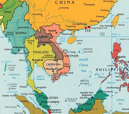 Southeast Asia | Maps and ... | Asia map, Where is cambodia, Country ...