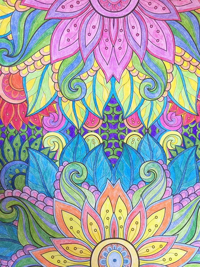 adult coloring book floral Pinterest Adult coloring and