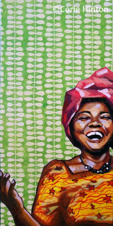 "Art Print, African woman, 8""x10"", ""PRECIOUS"" African"