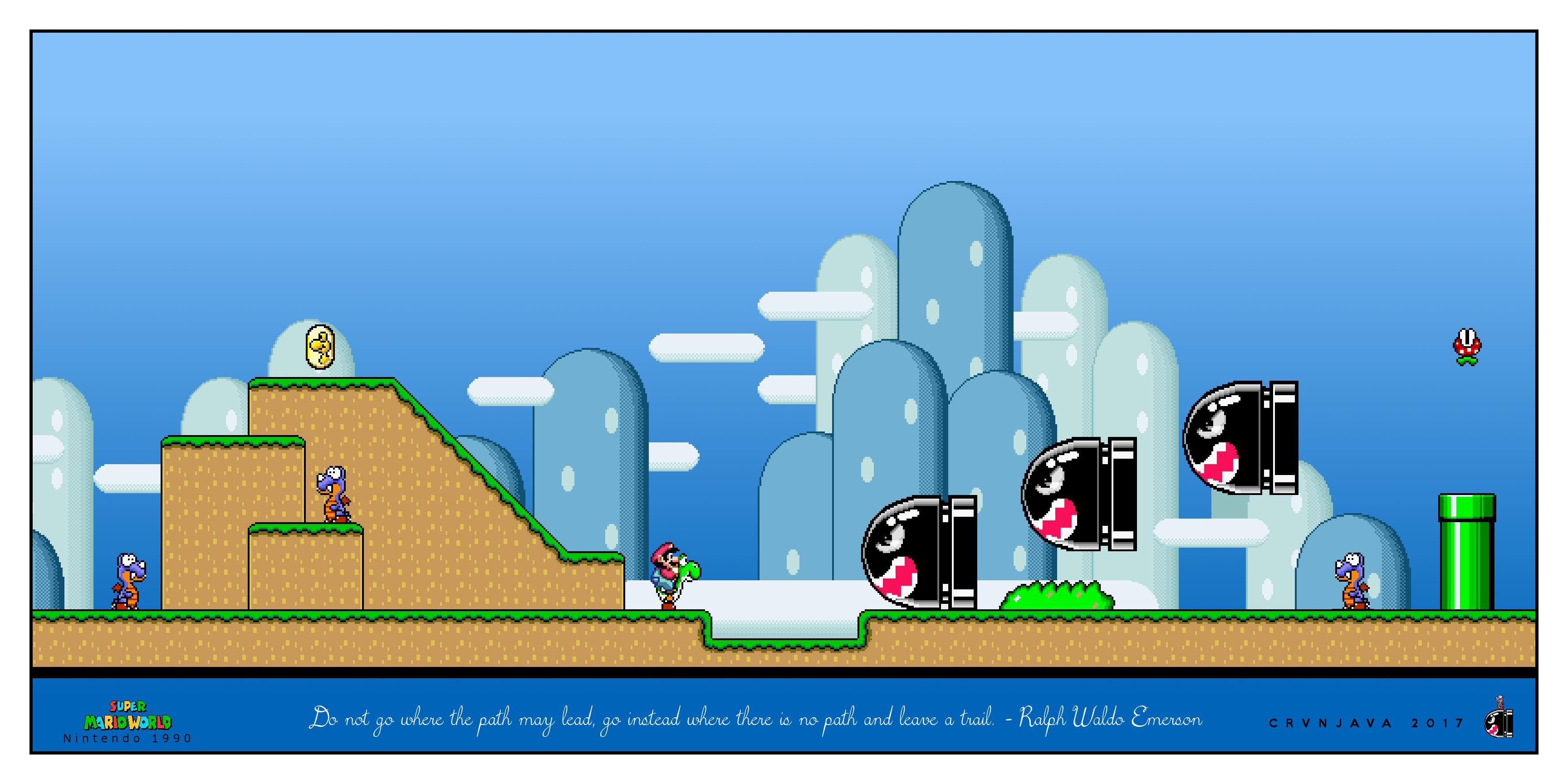 Super Mario Ralph Waldo Emerson Wallpaper Nintendo Nintendo