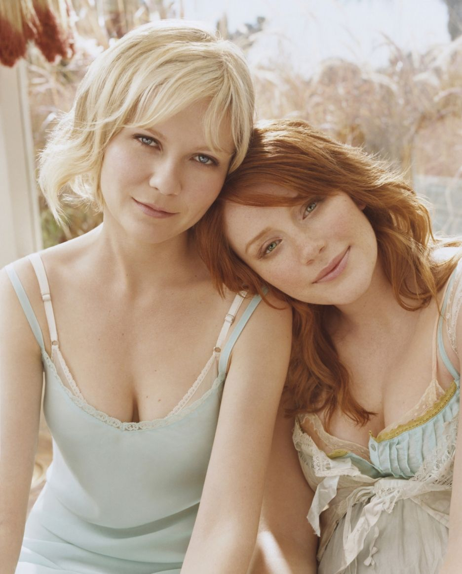 kirsten dunst and bryce dallas howard. they switched hair colors for
