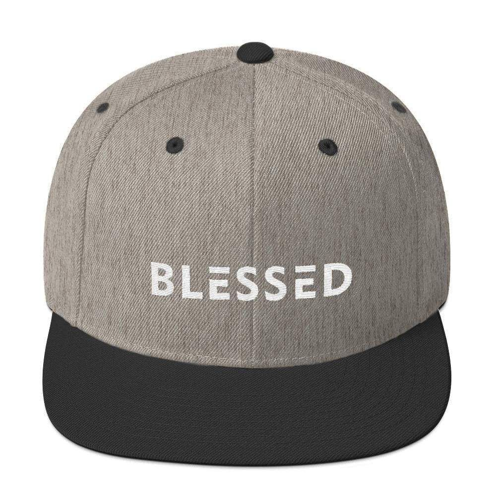 02111ea0bf574 Blessed Flat Brim Snapback Hat in 2019