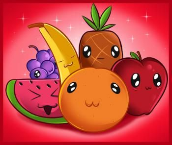 How To Draw Fruit Step By Step Food Fruits Drawing Fruit Cartoon Cute Easy Drawings