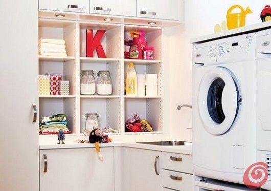 Un'idea di Marbodal per arredare la lavanderia e il ripostiglio.