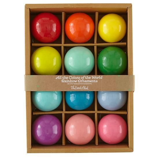 Colors Of The Rainbow Ornaments Nodwishlistsweeps Rainbow Ornaments Ornament Set Xmas Tree Ornament
