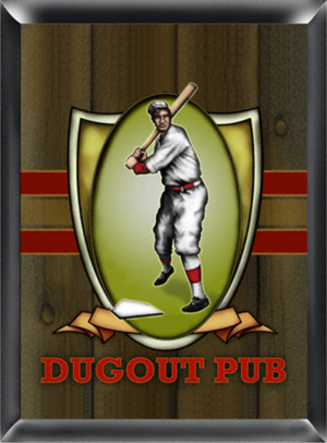 Personalized gifts for bar area or sports fan for $29.00.  Baseball pub sign. Personalize this gift with whatever you want.
