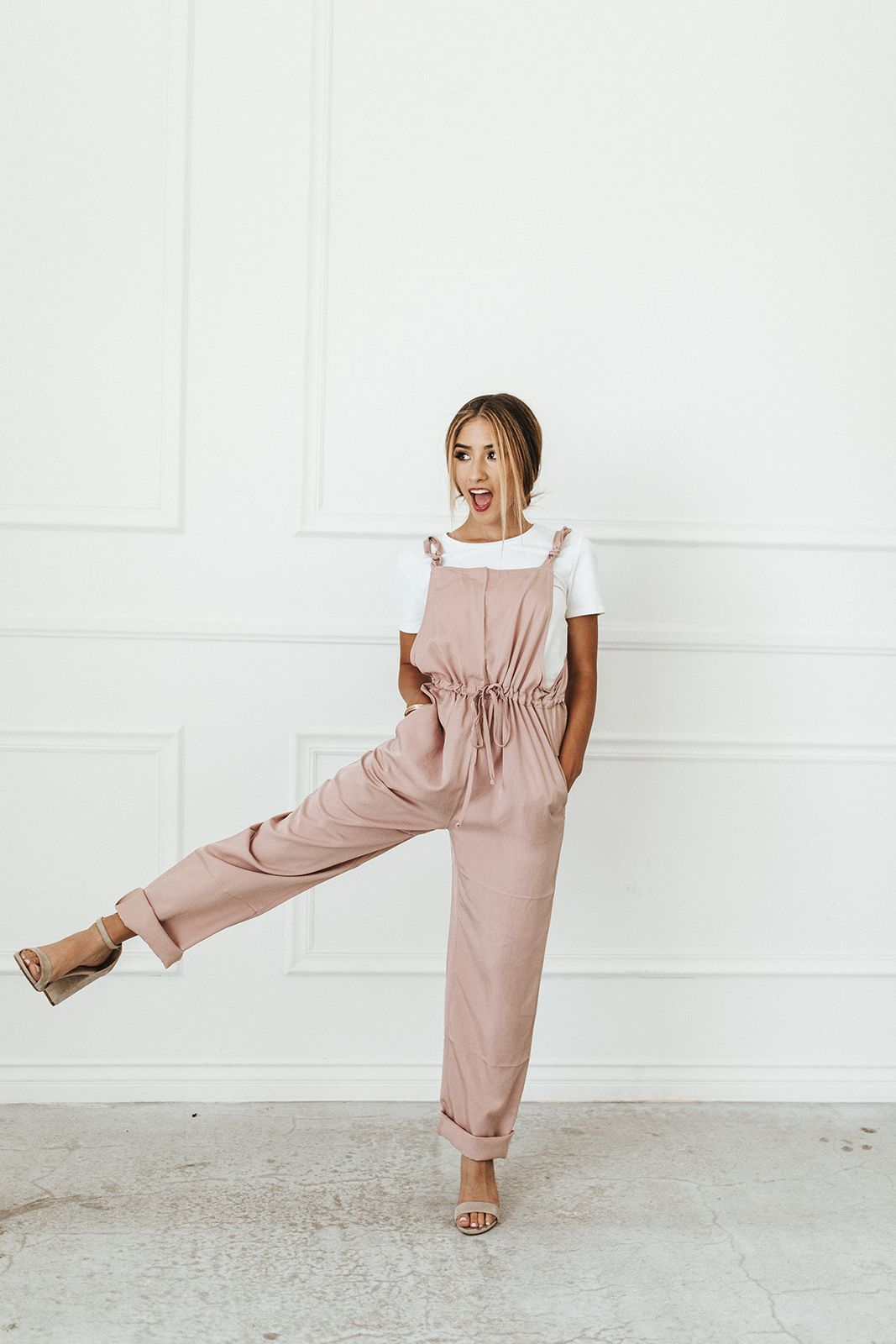 2616be0adff MILEY JUMPSUIT    Mauve overalls that work all year round  Yes please!