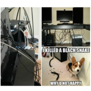 The most annoying thing that was driving me crazy at home and in the office - cable clutter :( Thanks to the reversible black & white cable sleeve, our living room and my husband's desk finally look neat & tidy. :) :) :)