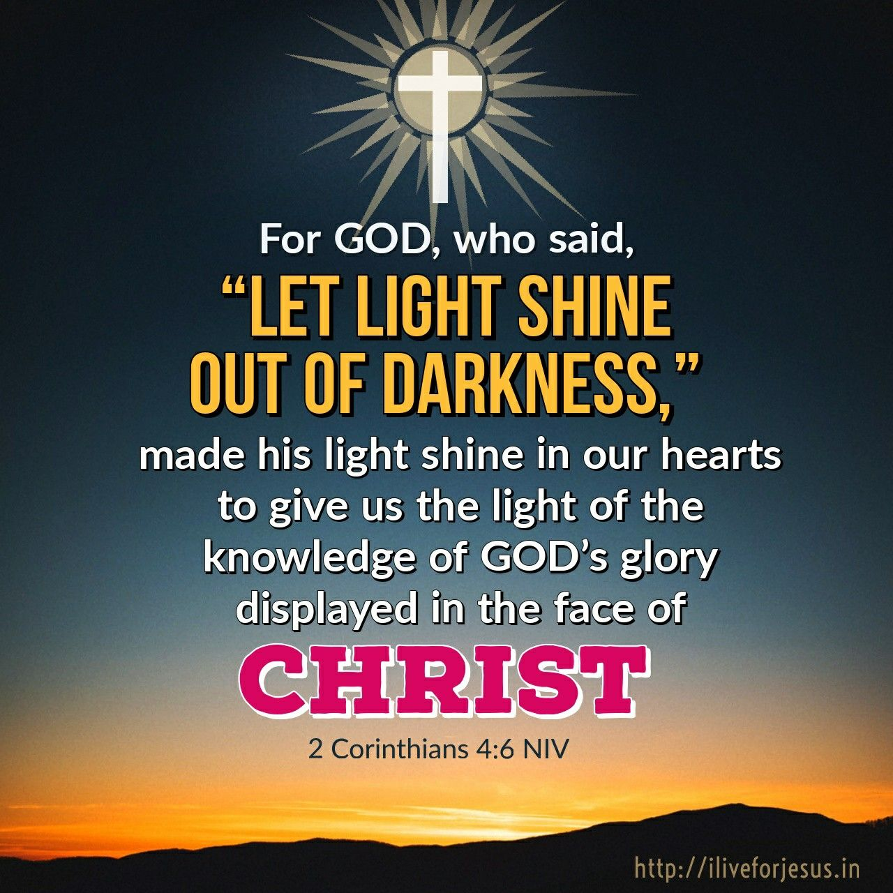 Pin On Best Bible Verses Light Shining Out Of Darknes Paraphrase