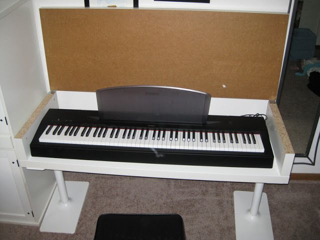 Living Room Redo Awesome Keyboard Stand Ikea Hack I Want This
