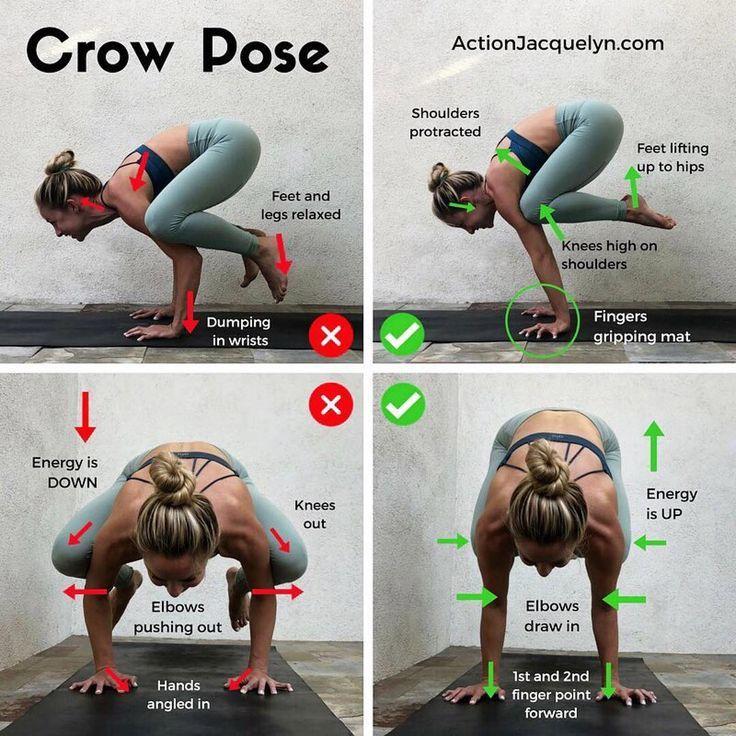"""Yoga für die Nichtflexiblen auf Instagram: """"Crow Pose ist, wenn sie richtig gemacht wird, ein ...  #gemacht #instagram #nichtflexiblen #richtig, #pilatesyoga"""