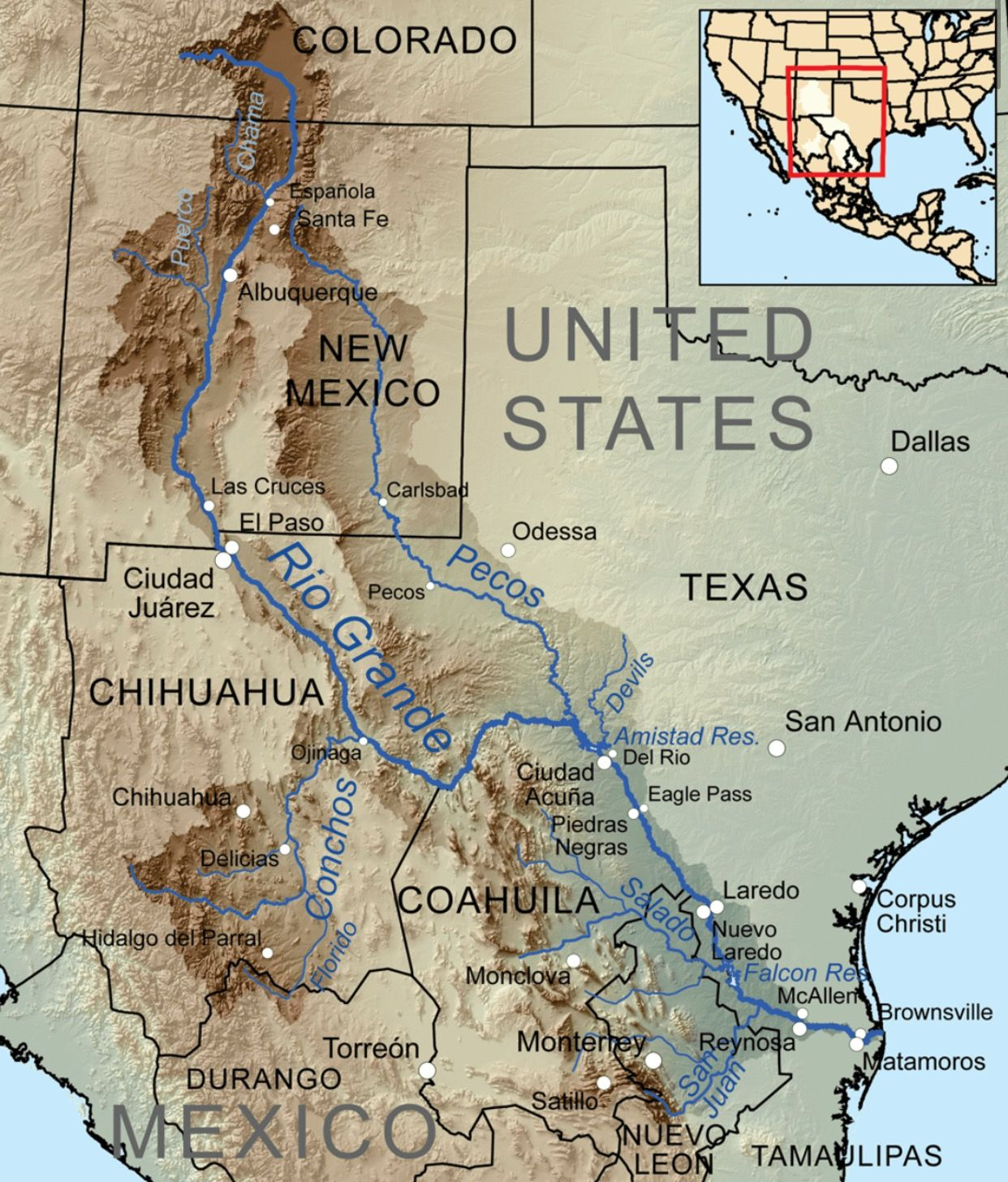 Map Of West Texas And New Mexico.Pecos And Rio Grand River Systems Dr Prepper Pecos