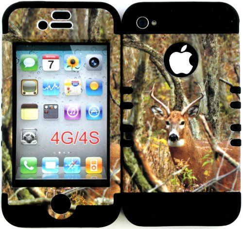 Bumper Case for Apple Iphone 4 4s Camo Mossy Real Deer Hunter Series Design Hard Plastic Snap on Over Black Silicone Gel Kool Case http://www.amazon.com/dp/B00GMUZT1W/ref=cm_sw_r_pi_dp_grKEub1P2GDVP