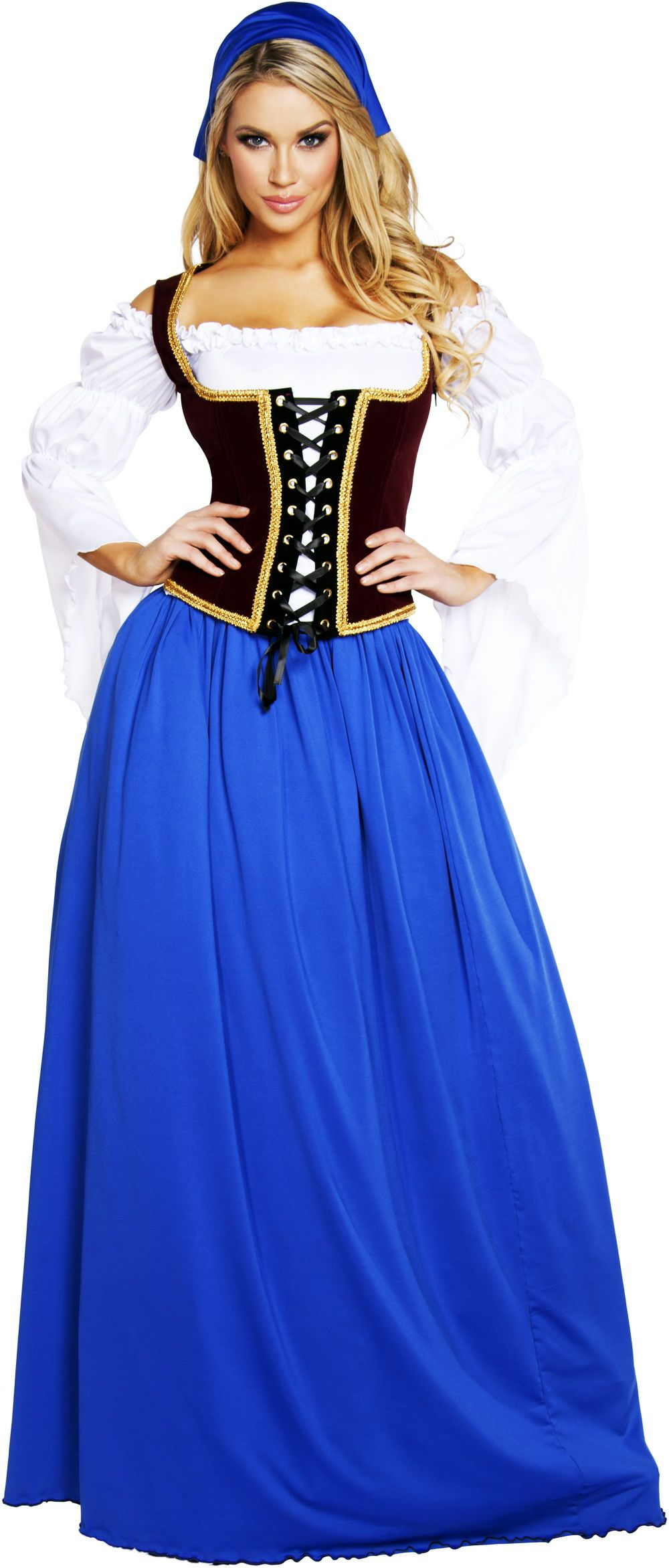 Sexy-Medieval-Wench-Maiden-Off-Shoulder-Blouse-Renaissance-Costume-Adult- Women 406023481568