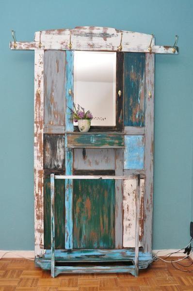 Wunderschone Garderobe Mit Spiegel Im Shabby Chic Stil M Vintage