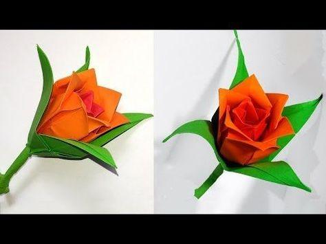 Origami rose modular easy paper rose ideas for christmas diy paper rose in origami style easy paper rose mightylinksfo